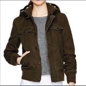 COPY - Aritzia TNA maverick utility brown jacket